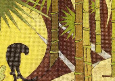 Panthere et Bamboos