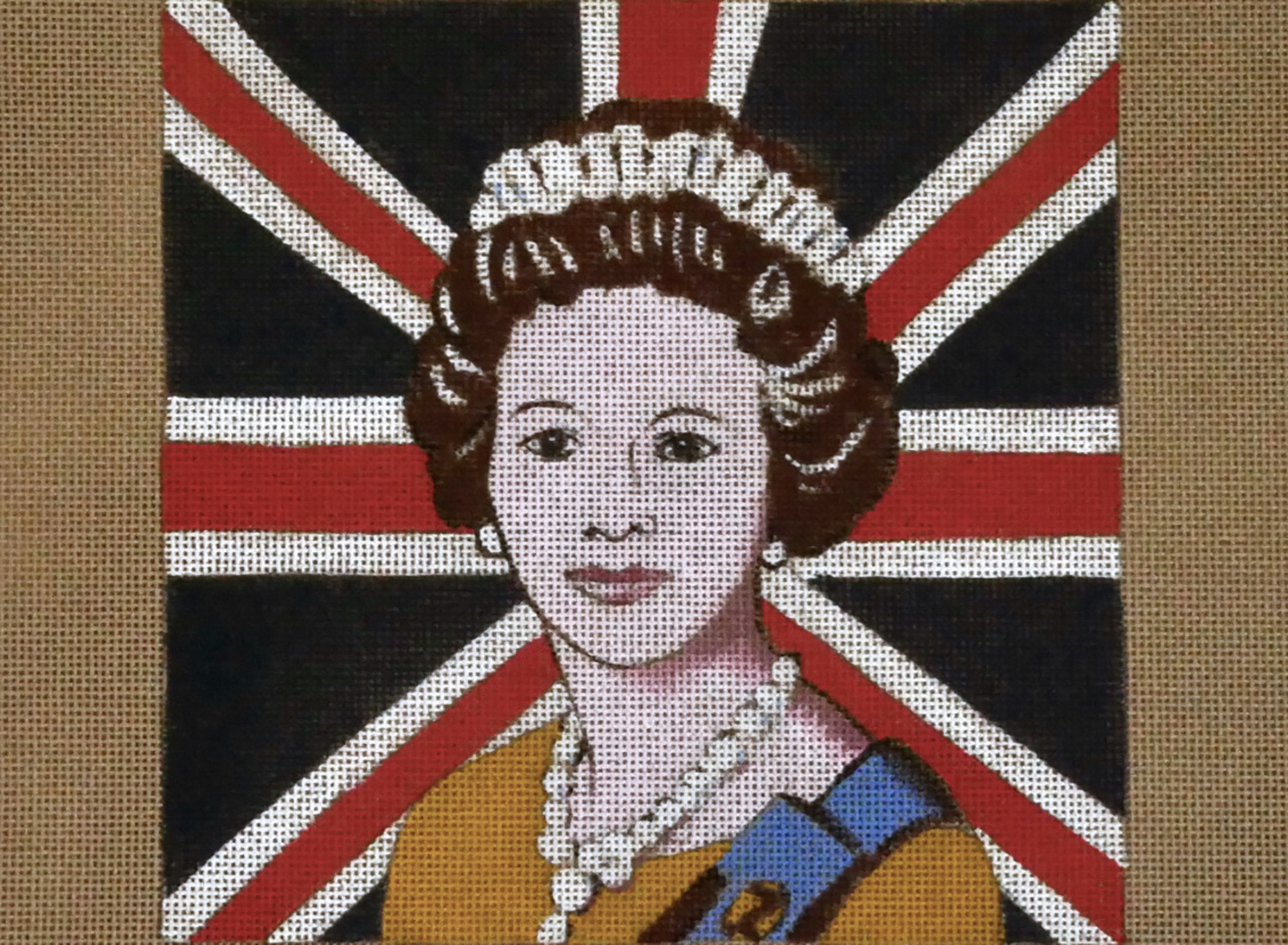 Queen with Union Jack